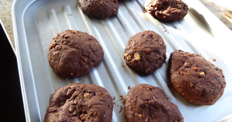 Ciasteczka całuski czekoladowe